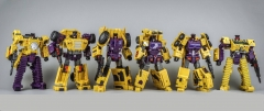 TOYWORLD - CONSTRUCTOR -SET OF SIX - YELLOW VERSION