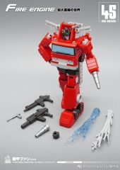 MechFansToys Mech Fans Toys MF-45 Fire Engine Inferno & MF-46 Crane