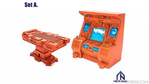 [Deposit only] NewAge Core Scenery Teletraan I Control Center & Operation Table Set A