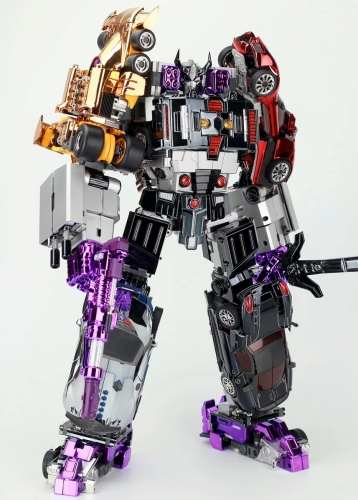 [DEPOSIT ONLY] TRANSFORMMISSION - TFM - HAVOC - CAR COMBINER SET OF 5 CHROME VER.